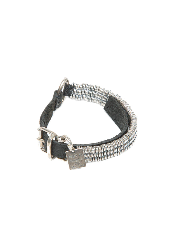 Goti Ash Silver & Leather Bracelet-Ari Soho