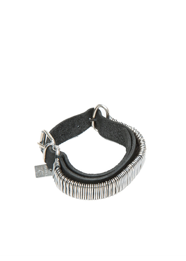 Goti Axel Silver & Leather Bracelet-Ari Soho