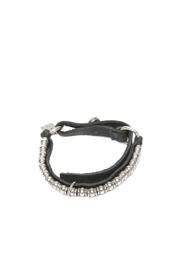 Goti Orion Silver & Leather Bracelet-Ari Soho