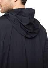 Hooded Windbreaker in Black-Ari Soho
