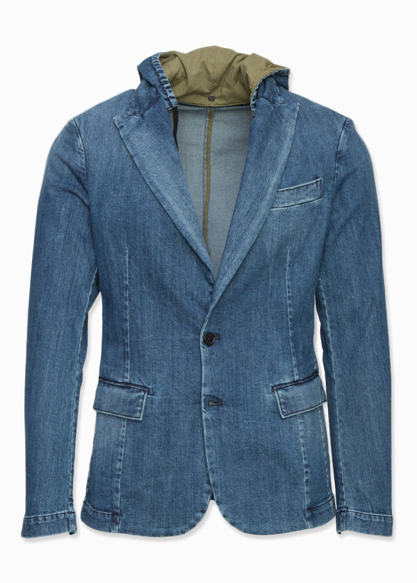 Denim Suit Jacket-Ari Soho