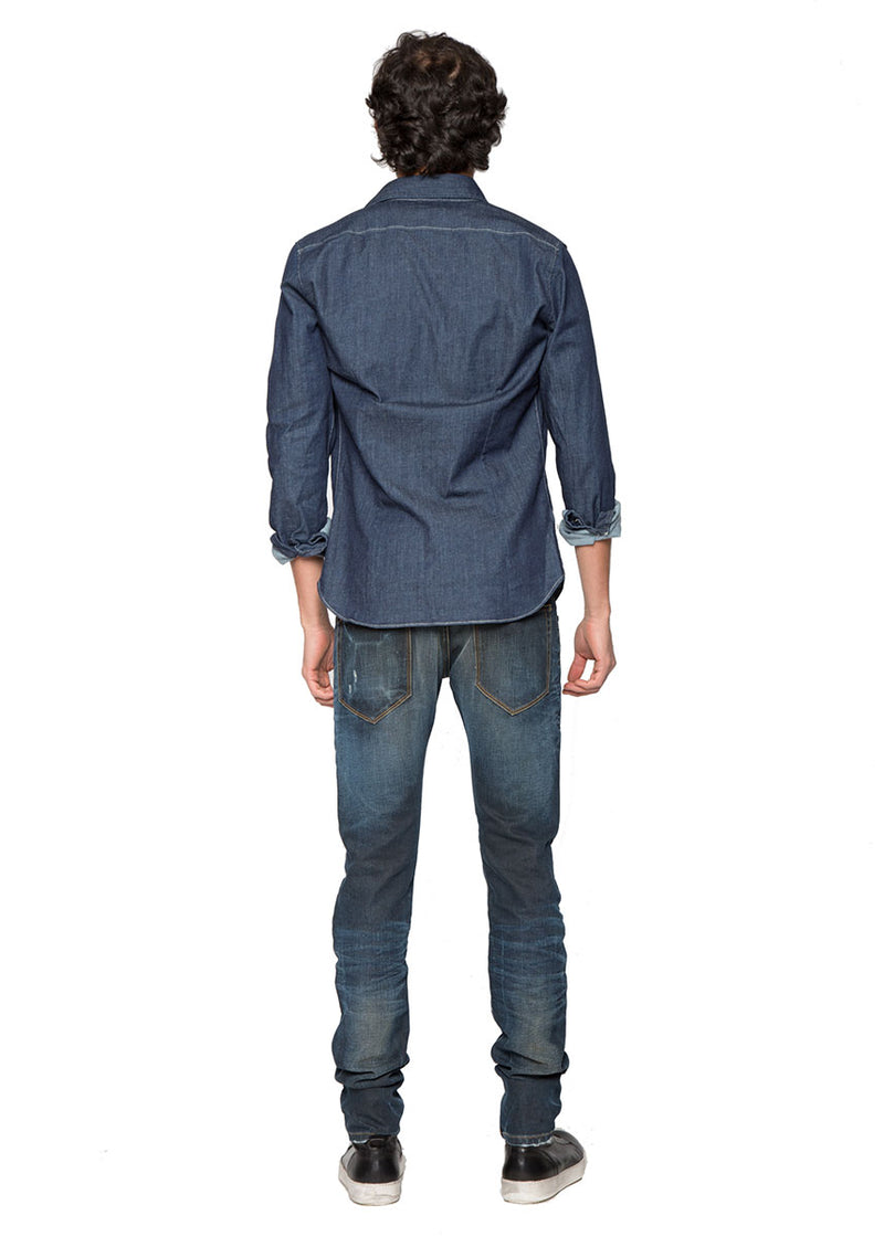 Medium Blue Washed Denim-Ari Soho