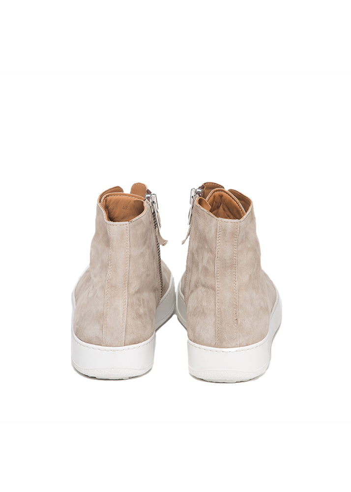 Mercer High Top Sneaker in Taupe Suede-Ari Soho