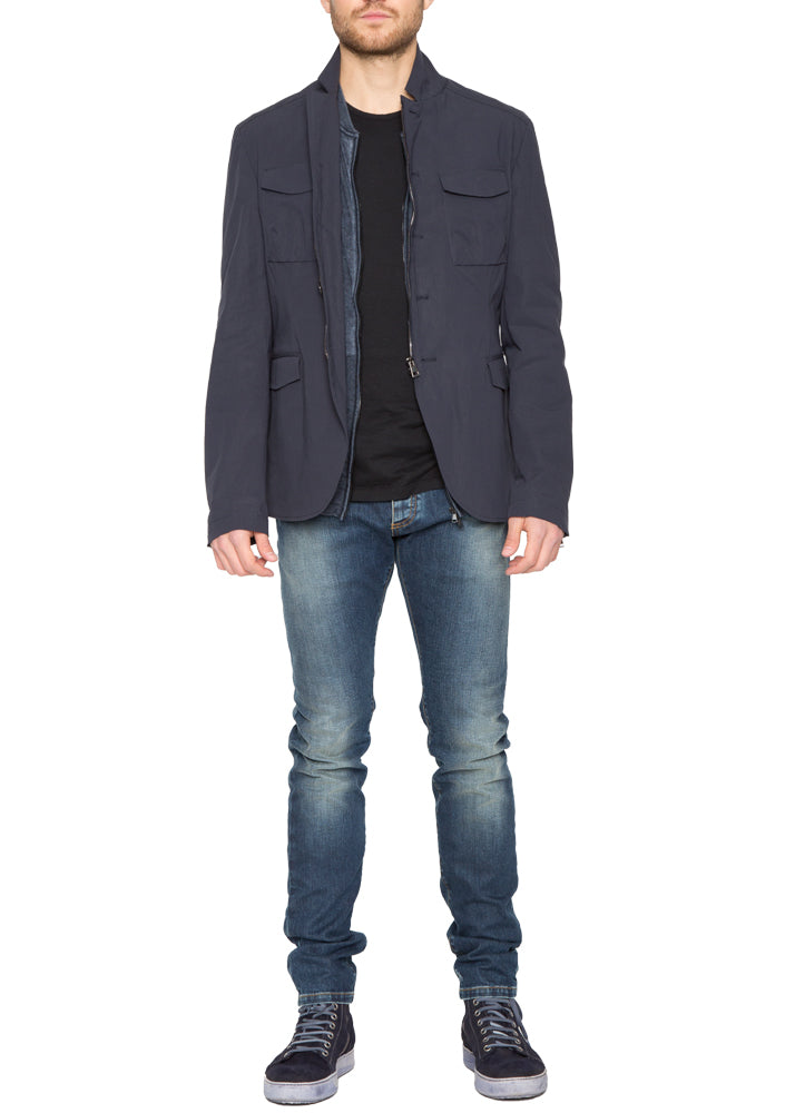 Milton Jacket in Navy-Ari Soho