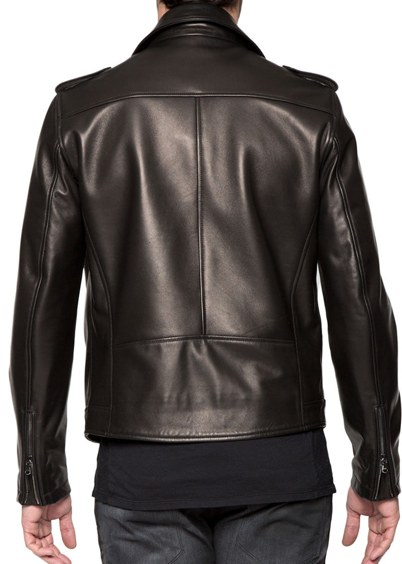 Black Moto Leather Jacket-Ari Soho