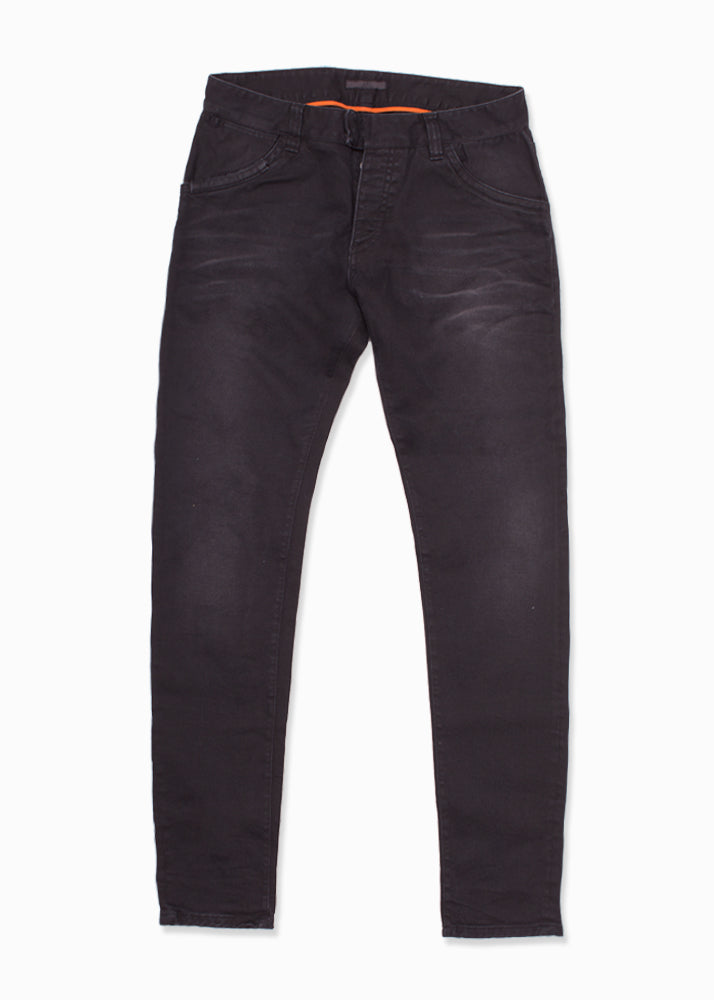 Black Moto Faded Denim Jeans-Ari Soho