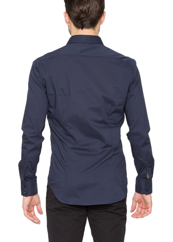 Navy Button Down With Pockets-Ari Soho