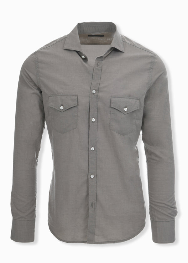 ASPEN BUTTON DOWN SHIRT MILITARY/CAMEL