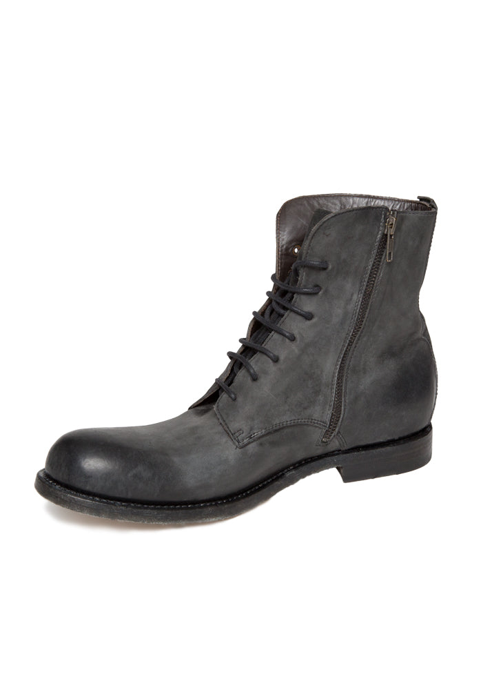 Off Black Leather Boot-Ari Soho