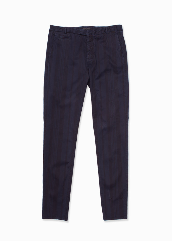 Cotton Stretch Striped Chino Pant-Ari Soho