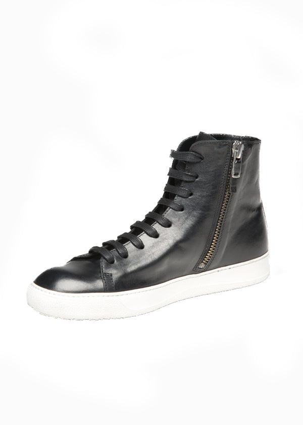 Mercer High Top Sneaker in Black-Ari Soho