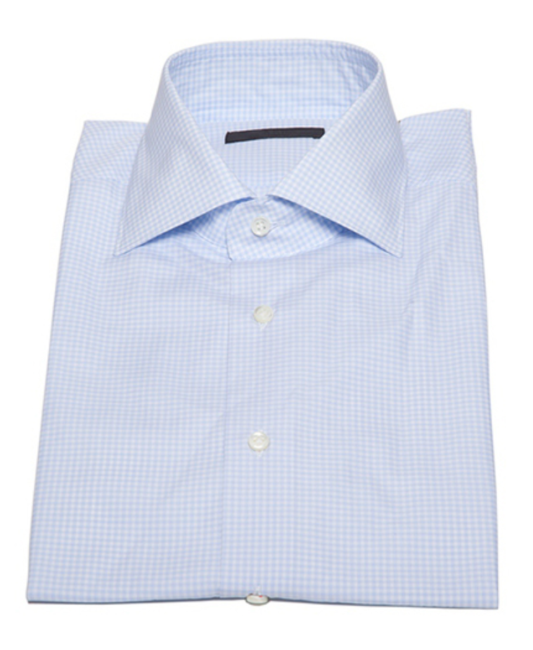 Check Button Down in Light Blue-Ari Soho