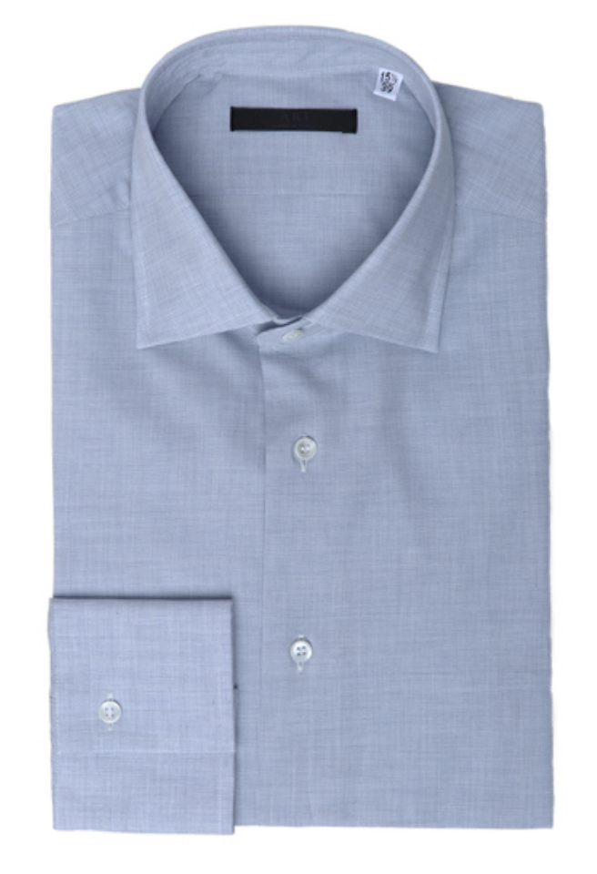 Lightweight Mussola Button Down in Blue-Ari Soho