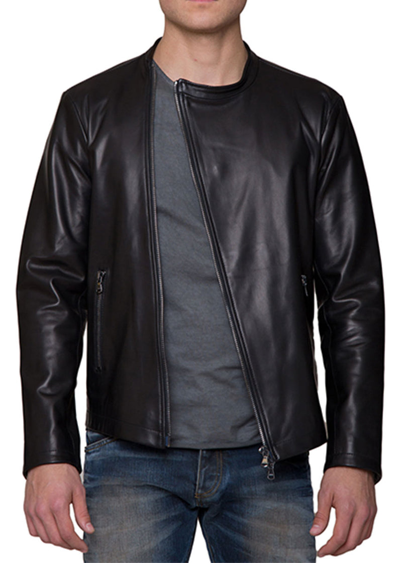 The Scuba Moto Jacket In Black-Ari Soho