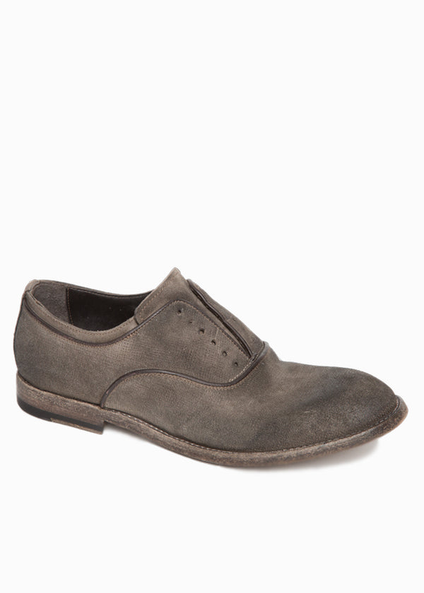 Washed Leather Oxford Shoes-Ari Soho