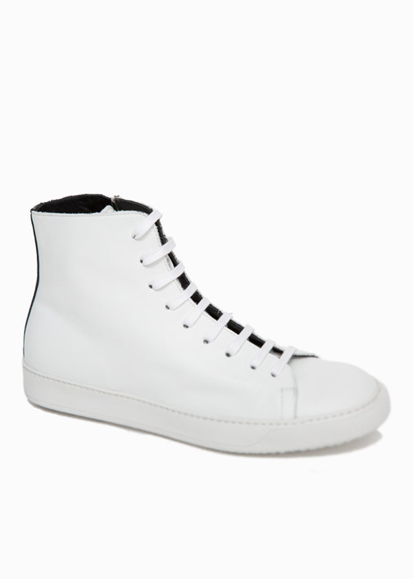 Mercer White High Top Sneaker-Ari Soho