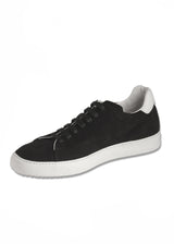 SoHo Sneaker in Black Suede-Ari Soho