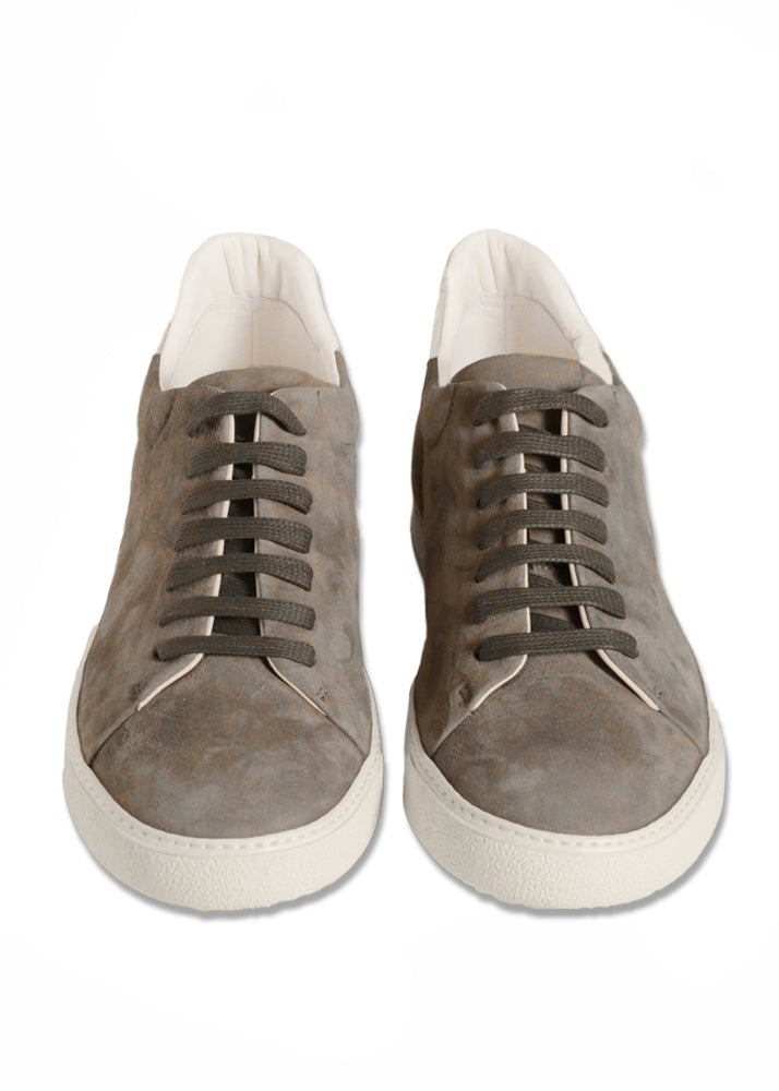 SoHo Sneaker in Grey Suede-Ari Soho