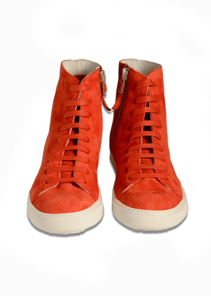 City Hightop in Red Suede-Ari Soho