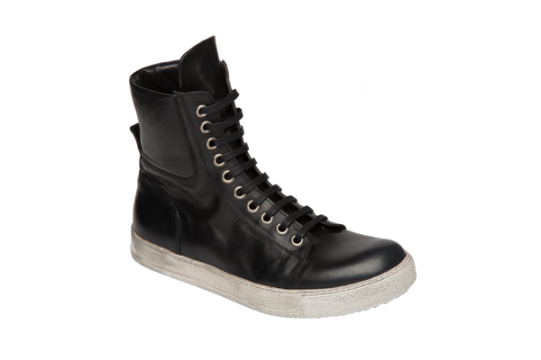 Black Ultra High Top Sneaker-Ari Soho