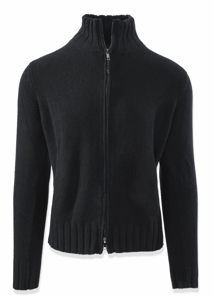 Zip-Up Cashmere Cardigan