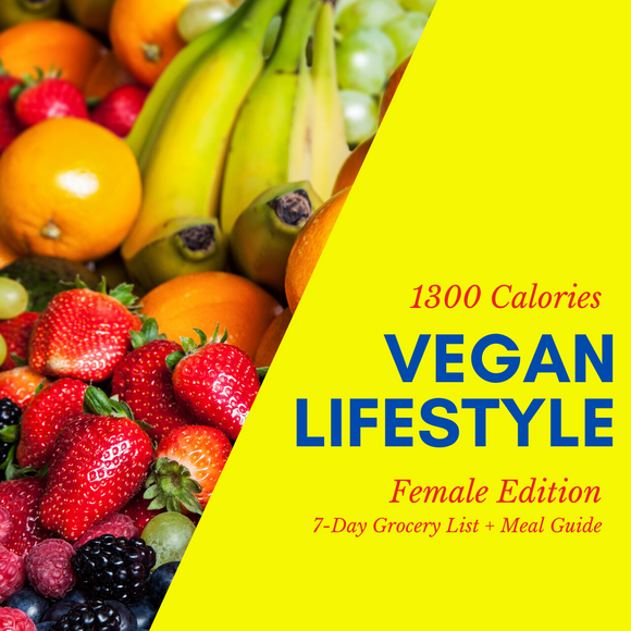 Vegan Lifestyle Grocery List (Female)