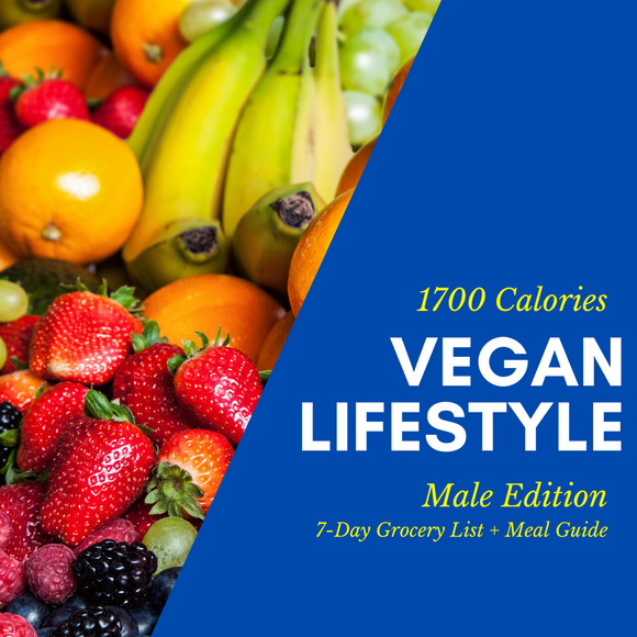 Vegan Lifestyle Grocery List (Male)