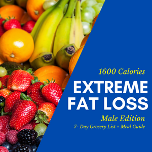 Extreme Fat Loss Grocery List & Meal Guide (Male)