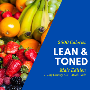 Lean & Toned Physique Grocery List & Meal Guide (Male)