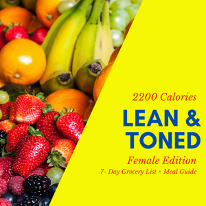 Lean & Toned Physique Grocery List & Meal Guide (Female)