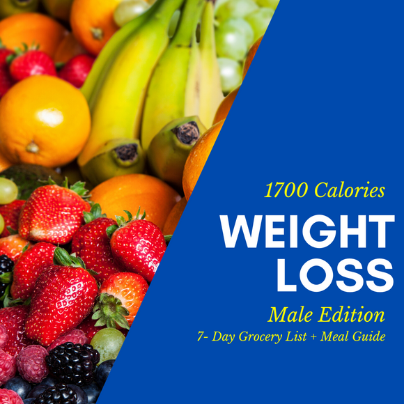 Weight Loss Grocery List & Meal Guide (Male)