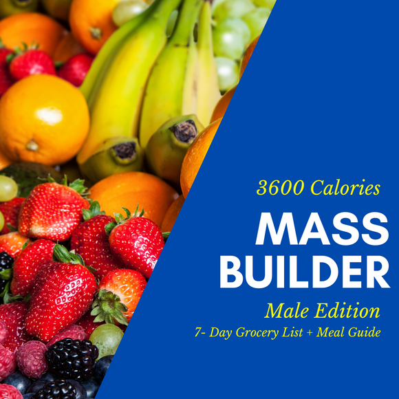 Mass Builder Grocery List & Meal Guide (Male)