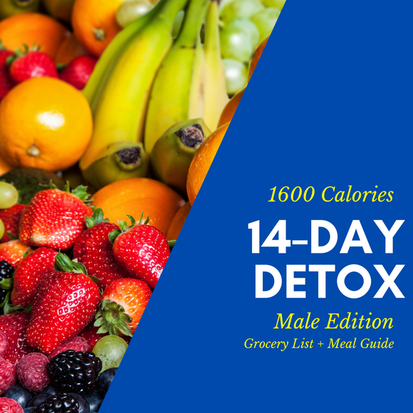 14-Day Detox Grocery List & Meal Guide (Male)