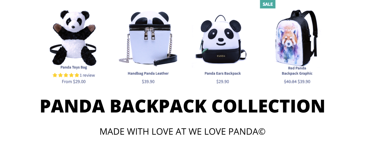panda backpack collection