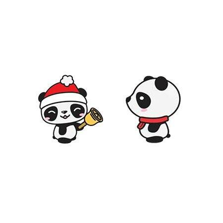 Christmas Bell Panda Earrings | We Love Panda