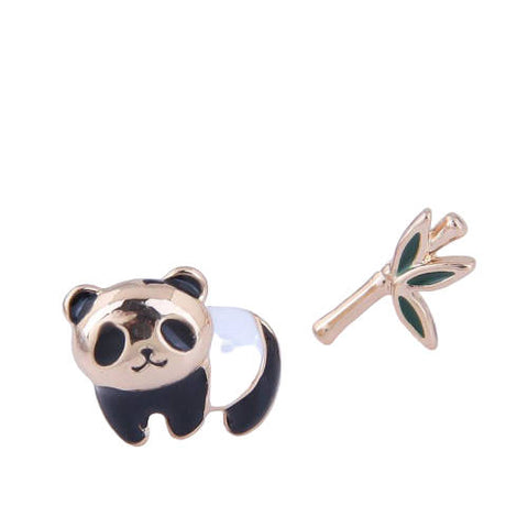 Panda Bear  Earrings (Bamboo)
