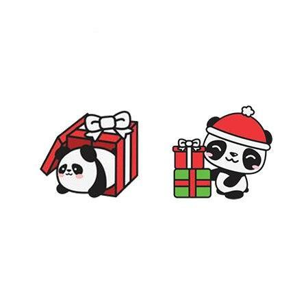 Panda Earrings  Christmas Gift