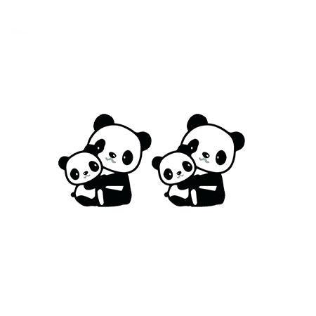 Panda Earrings  Mom and Baby