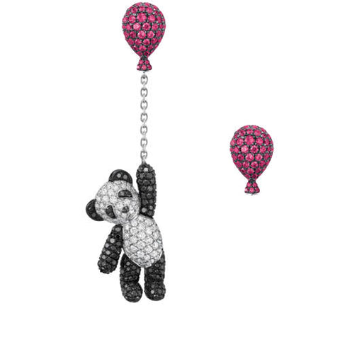 Panda Earrings  with Balloon (Katy Perry)