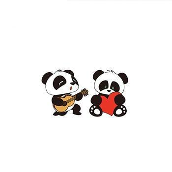 Panda In Love Earrings