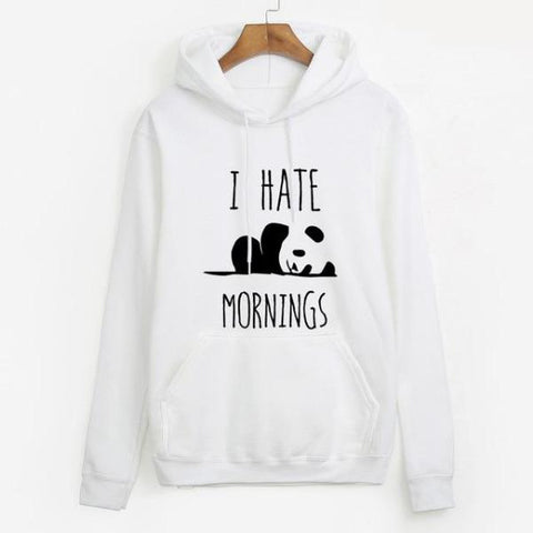 Panda Sweatshirt I Hate Mornings | We Love Panda