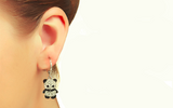 Diamond Panda Earrings