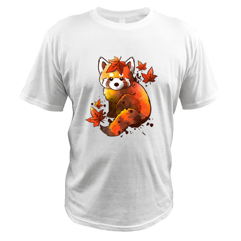 red-panda-t-shirt-automn-white