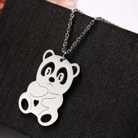 steel-flat-panda-necklace-silver