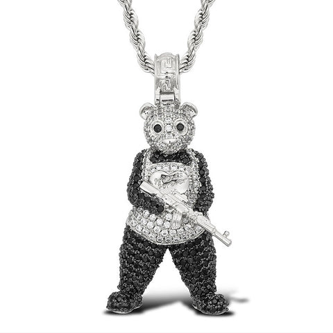 gun-panda-iced-out-chain-silver