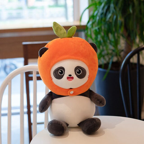 Plush Panda <br> Hooded Orange