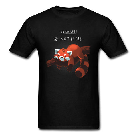 "Red Panda <br> ""To-Do List: Nothing"" T-shirt"