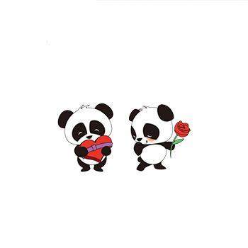 Valentine's Day  Panda Earrings