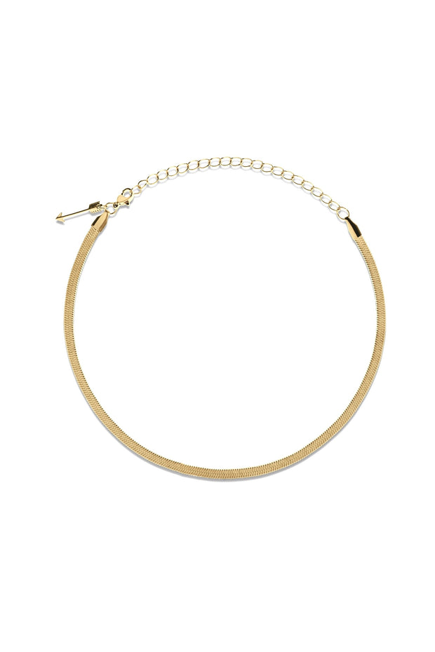 NIC SNAKE CHOKER NECKLACE- GOLD