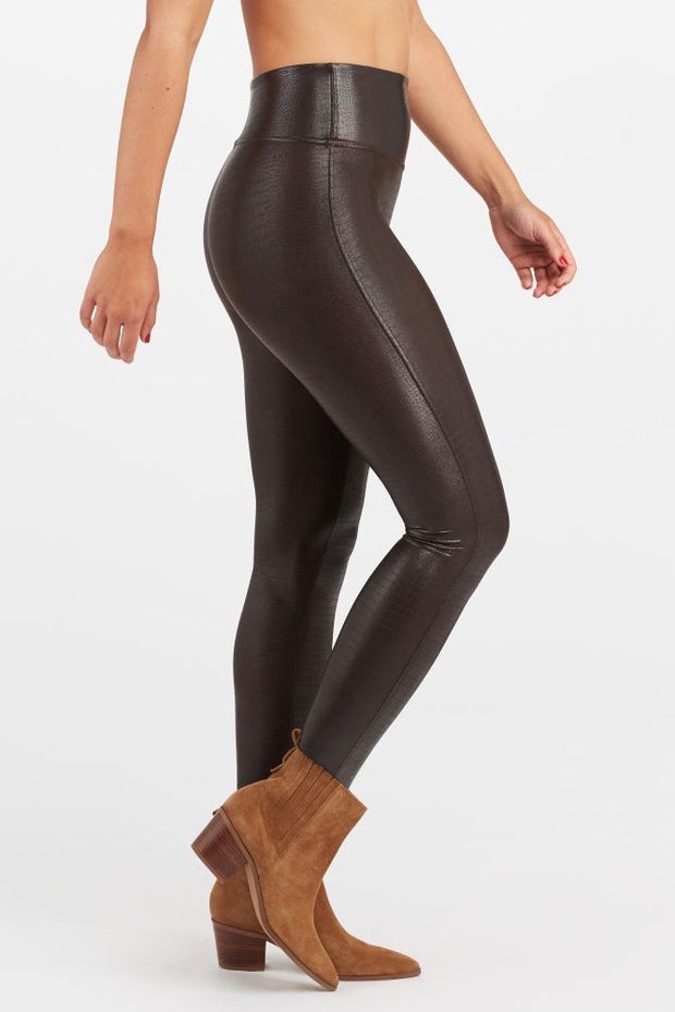 FAUX LEATHER CROC LEGGING